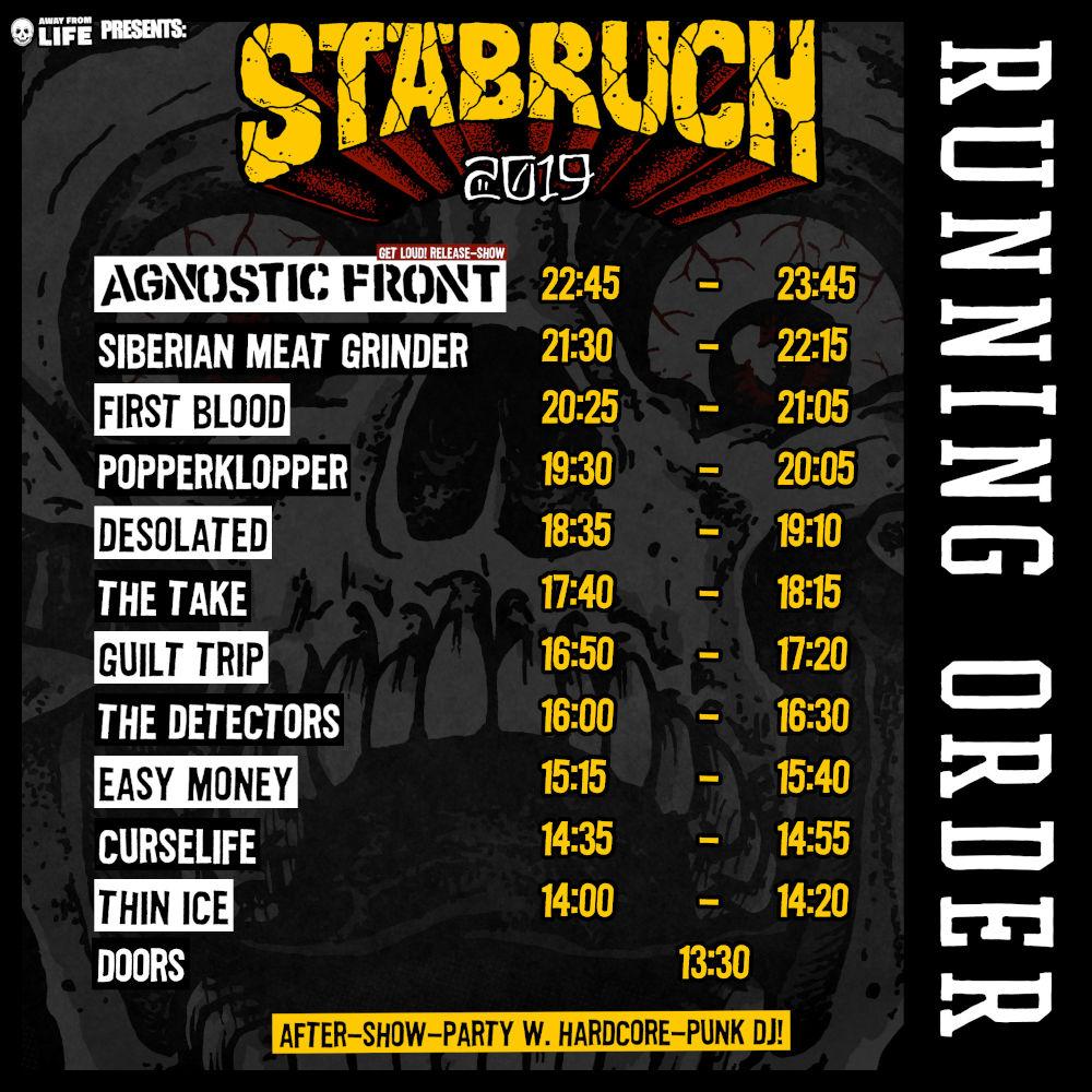 Stäbruch 2019 - Running-Order
